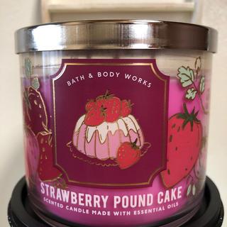 Bath & Body Works - バスアンドボディワークス ストロベリーパウンドケーキ 3-wick キャンドル