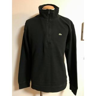 ラコステ(LACOSTE)のLACOSTE ラコステ ハーフジップ ポロシャツ サイズ6 黒 xpv (ポロシャツ)