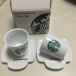 スターバックスコーヒー(Starbucks Coffee)のスタバデミタスカップ&ソーサー(グラス/カップ)