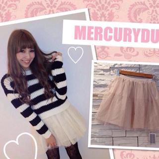 マーキュリーデュオ(MERCURYDUO)のMERCURYDUO チュールスカート♡(ミニスカート)