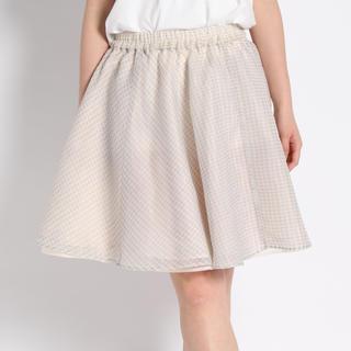 ウィゴー(WEGO)のオーガンジー千鳥柄リバーシブルスカート(ひざ丈スカート)