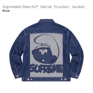 Supreme - 【L】Supreme Smurfs Denim Trucker Jacket 青