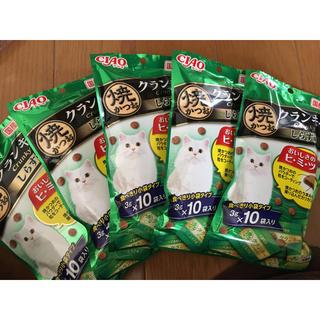 イナバペットフード(いなばペットフード)の送料込★ ちゃお 焼かつお クランキー しらす味 5パックセット(猫)