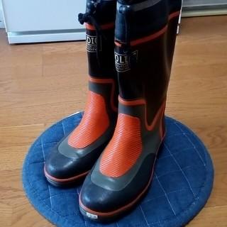 防災 長靴 ジョルディック 足先補強 5 CM  26 、サイドがバイアス編み(長靴/レインシューズ)