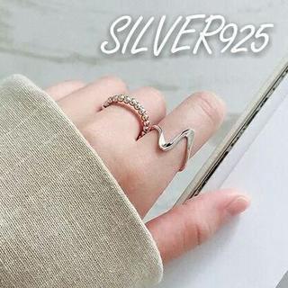 ウェーブリング017 #シルバー silver925(リング(指輪))