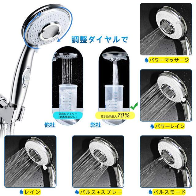 シャワーヘッド EocuSun  インテリア/住まい/日用品の日用品/生活雑貨/旅行(タオル/バス用品)の商品写真