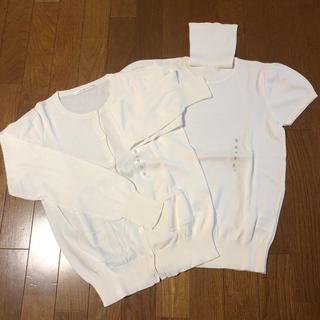 UNIQLO - 【新品未使用】UNIQLO コットンカシミヤ アンサンブル
