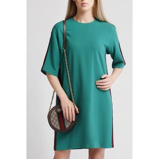 グッチ(Gucci)の15万 GUCCI ワンピース ドレス 40国内本物 グッチ シャツ プレゼント(ミニワンピース)