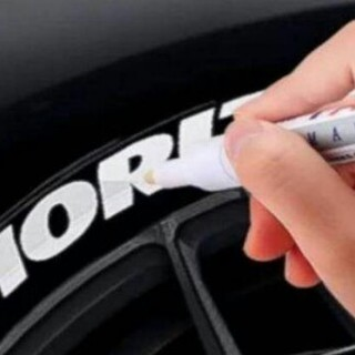 新品未使用  タイヤペイント ホワイトレター タイヤマーカー 白 マーカーペン