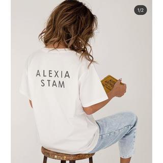 ALEXIA STAM - ALEXIA STAM バックロゴTシャツ 新品