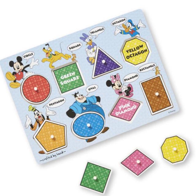 Disney(ディズニー)の【Melissa&Doug】ディズニー 木製パズル 図形 キッズ/ベビー/マタニティのおもちゃ(知育玩具)の商品写真