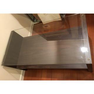 フランフラン(Francfranc)のフランフラン ガラステーブル ブラウン(ローテーブル)