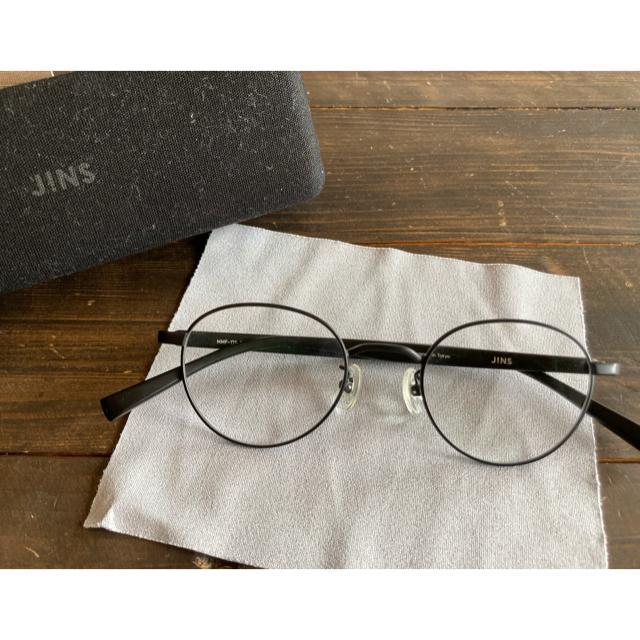 JINS(ジンズ)のJINS 度なし 眼鏡 ブラック メンズのファッション小物(サングラス/メガネ)の商品写真