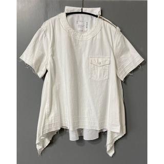 サカイ(sacai)のR2)新品 SACAI 20ss デニムシャツ ホワイト 1(シャツ/ブラウス(半袖/袖なし))