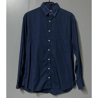 カラー(kolor)のR2)KOLOR 20ss 襟ステッチ 長袖シャツ ネイビー 2(シャツ)