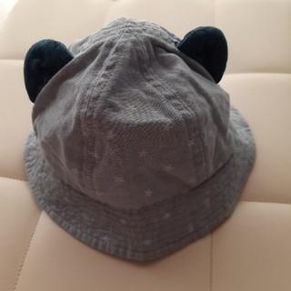 アカチャンホンポ(アカチャンホンポ)のベビー帽子 46cm デニム くま耳(帽子)