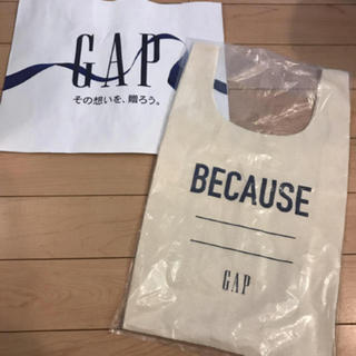 ギャップ(GAP)の新品★ gap エコバッグ レジバッグ (エコバッグ)