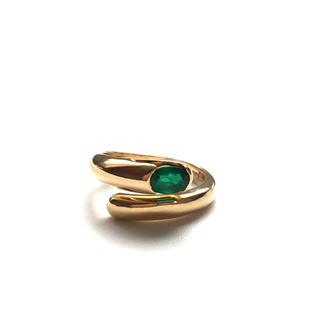 BVLGARI - 【超美品】ブルガリ アストレアリング 指輪 18金 750 エメラルド
