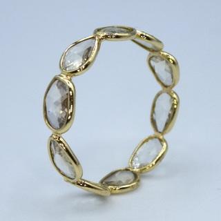ローズカット ダイヤモンド フルエタニティー リング サイズ6(リング(指輪))