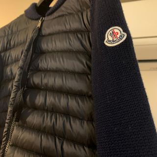 MONCLER - MONCLER ペプラムニットダウンカーディガン