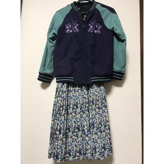 アナスイミニ(ANNA SUI mini)のANNASUI miniプリーツスカート美品130(スカート)