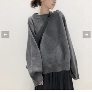 L'Appartement DEUXIEME CLASSE - ボートネック Wide Knit グレー