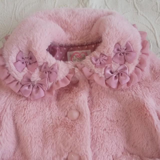Shirley Temple(シャーリーテンプル)の週末限定価格!シャーリーテンプル コート 80~90センチ キッズ/ベビー/マタニティのキッズ服女の子用(90cm~)(ジャケット/上着)の商品写真