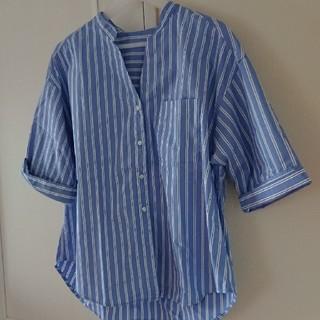 ジーユー(GU)の【GU】ストライプシャツ(シャツ/ブラウス(半袖/袖なし))