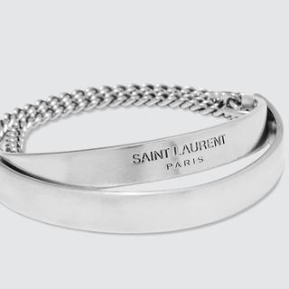 サンローラン(Saint Laurent)のsaint laurent double plaque chain metal(ブレスレット)