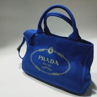 プラダ(PRADA)の送料込 2WAYバッグ ブルーPRADA(ショルダーバッグ)