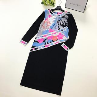 レオナール(LEONARD)の美品 レオナール  LEONARD 最高級シルク 花柄 ドレス ワンピース(ロングワンピース/マキシワンピース)