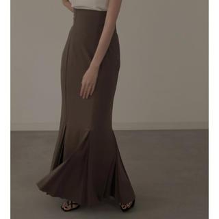 louren mermaid pleats skirt ブラウン