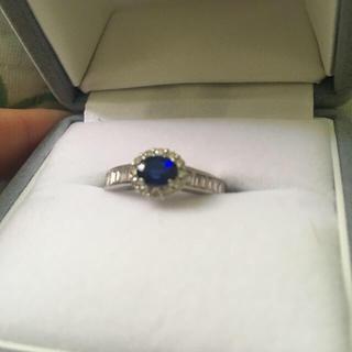10万円相当! サファイア リング プラチナ ダイヤモンド