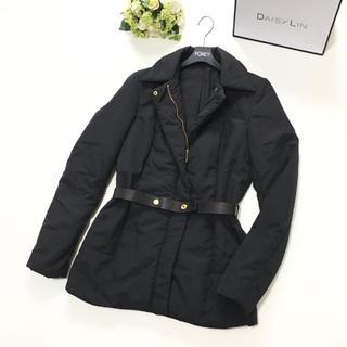 Gucci - 美品 グッチ GUCCI ベルト付 ブラック ブルゾン 中綿 ジャケット