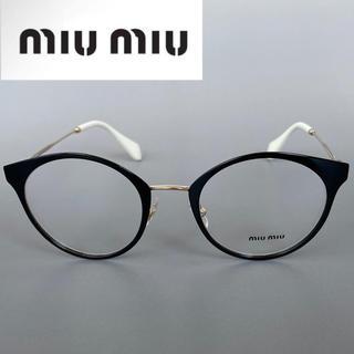 miumiu - ◆MIU MIU◆ミュウミュウ ボストン ブラック ゴールド メガネ 眼鏡