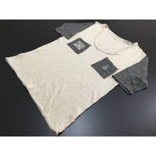 キャピタル(KAPITAL)のKAPITALキャピタル2トーンUネックTシャツサイズ2生成り×グレー(Tシャツ/カットソー(半袖/袖なし))