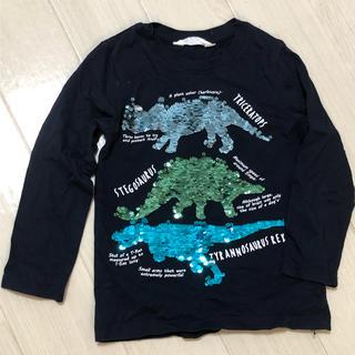 H&M - H&M 男の子 恐竜 Tシャツ 3-4Y キラキラ