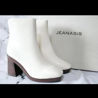 ジーナシス(JEANASIS)のJEANASIS スクエアトゥヒールブーツ Mサイズ(ブーツ)