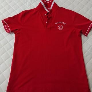 ニジュウサンク(23区)の23区ゴルフ メンズ ポロシャツ 赤(ウエア)