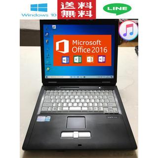 フジツウ(富士通)のノートPC Windows10 Ms-Office2016 ソフト多数(ノートPC)