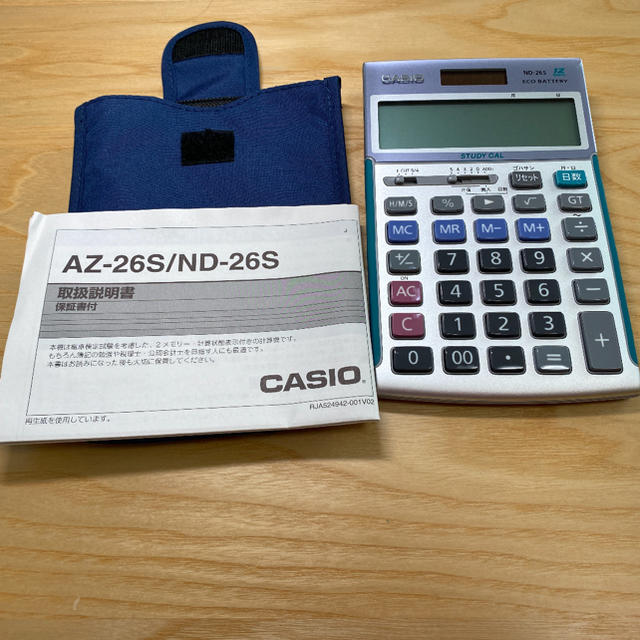 CASIO(カシオ)のCASIO ND-26s 電卓 インテリア/住まい/日用品のオフィス用品(オフィス用品一般)の商品写真
