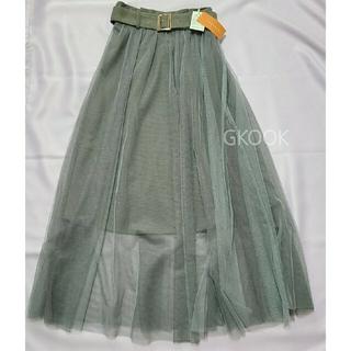 レディアゼル(REDYAZEL)の✳新品未使用タグ付✳ REDYAZEL ベルト付チュールデザインスカート(ロングスカート)