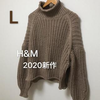 H&M - 【新作タグ付】H&M  エイチアンドエム チャンキーニット ベージュ