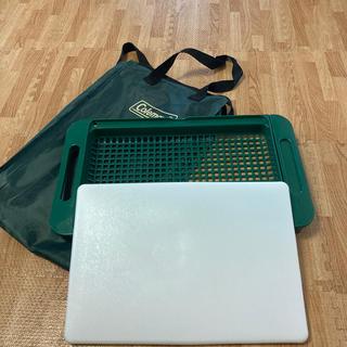 コールマン(Coleman)のコールマン まな板 収納袋付き 廃盤(調理器具)