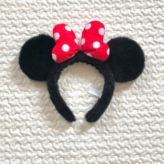 ディズニー(Disney)のDisney ミニーちゃん 耳 カチューシャ ヘア飾り(小道具)