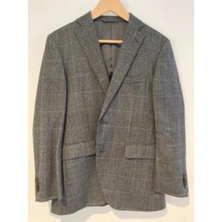 スーツカンパニー(THE SUIT COMPANY)のスーツカンパニー グレーチェック ジャケット サイズ165 d4 drop4(テーラードジャケット)