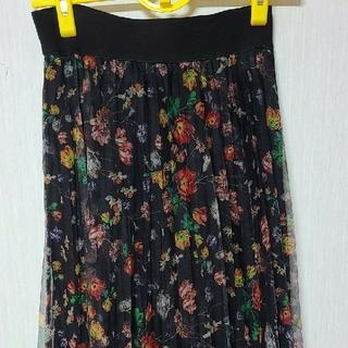 エイチアンドエム(H&M)のH&M花柄チュールスカート(ロングスカート)
