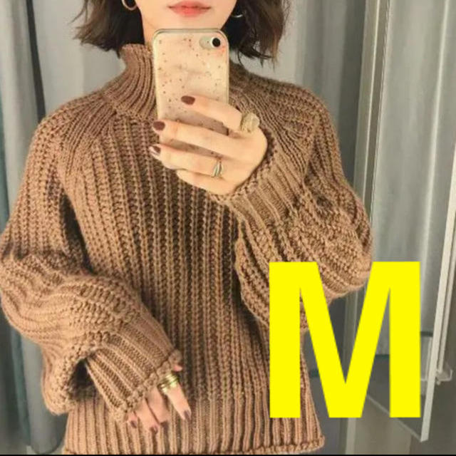 H&M(エイチアンドエム)の◆完売◆H&M チャンキーニット リブニットハイネックセーター Mサイズ レディースのトップス(ニット/セーター)の商品写真