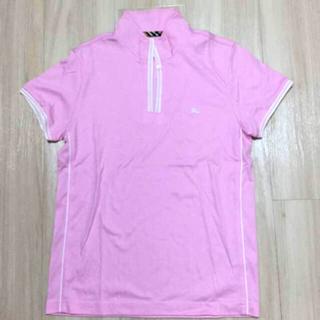 バーバリー(BURBERRY)のBURBERRY バーバリーゴルフ ポロシャツ レディース M ピンク(ウエア)