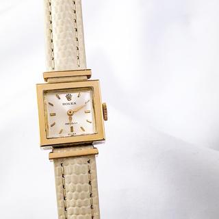 ロレックス(ROLEX)の【仕上済】ロレックス プレシジョン K18YG スクエア レディース 時計  (腕時計)